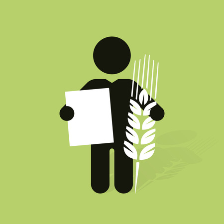 dark figure with the cob and a sign Vector