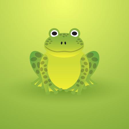 Kleine groene kikker op een lichte achtergrond