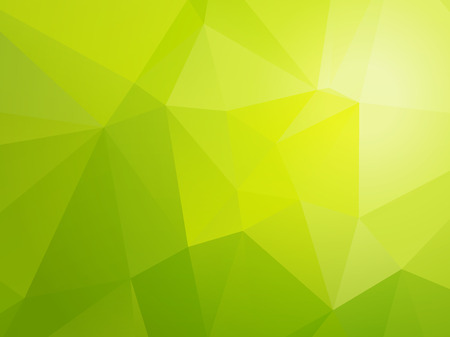 simple light bio green triangular background Vectores