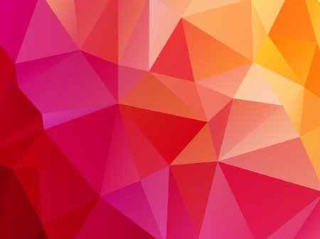 bright red pink orange triangular background