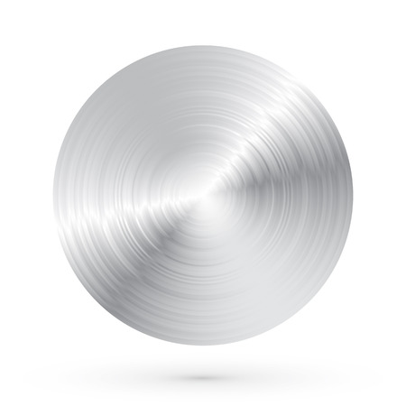 Round brushed metal with highlights and shadows Stock Illustratie