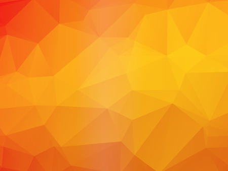 beautiful yellow orange triangular background Ilustração