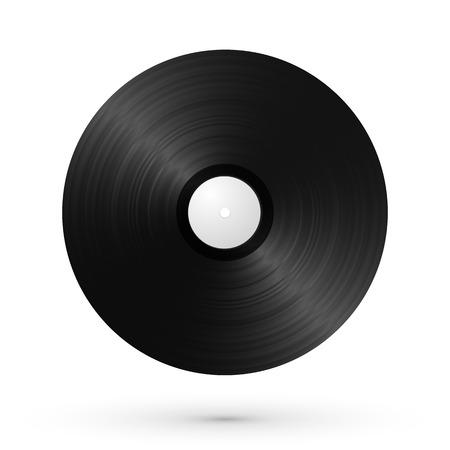 gramophone: vinyl gramophone LP with shadow