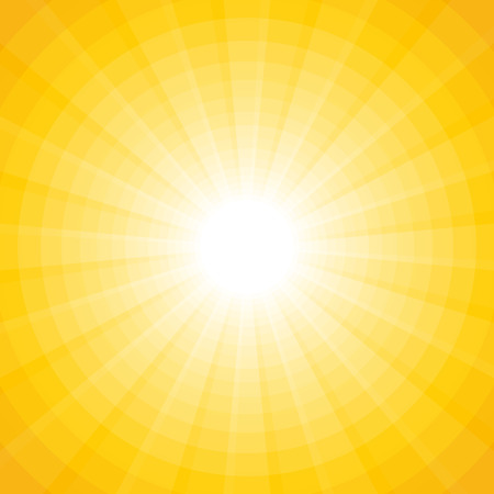 solar: yellow background with a white sun with rays and circles