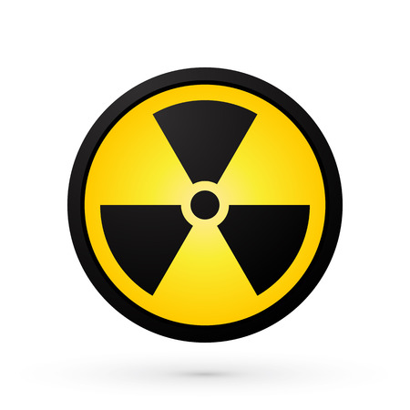 hazardous waste: simple radioactivity symbol Illustration