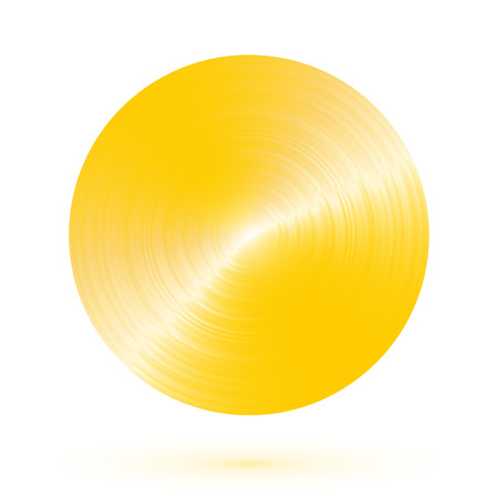 brushed gold: Round brushed gold with reflections
