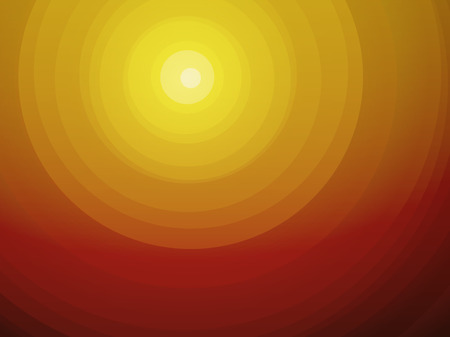 sunsets: desert Sunsets circular brown radial background Illustration