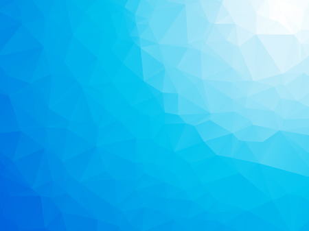 abstract triangular blue white winter background Vectores