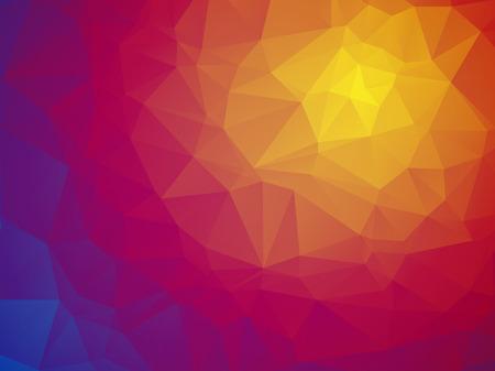 jaune rouge: Magnifique couleur triangulaire fond bleu jaune rouge Illustration