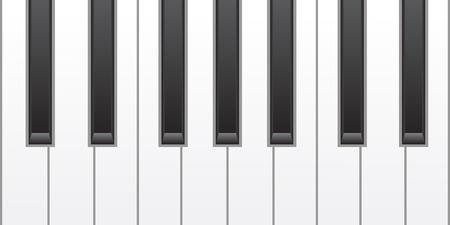 fortepian: proste klawisze fortepianu
