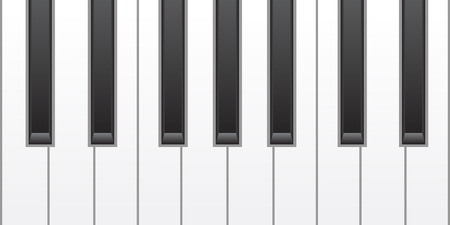 keyboard instrument: simple piano keys Illustration