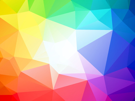Bunten dreieckigen Hintergrund mit weißen Mitte Standard-Bild - 43611304