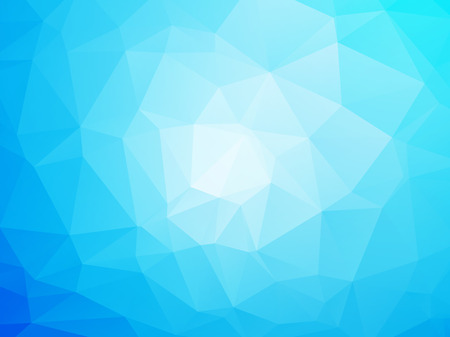 geometric shapes: Modern blue and white background Illustration
