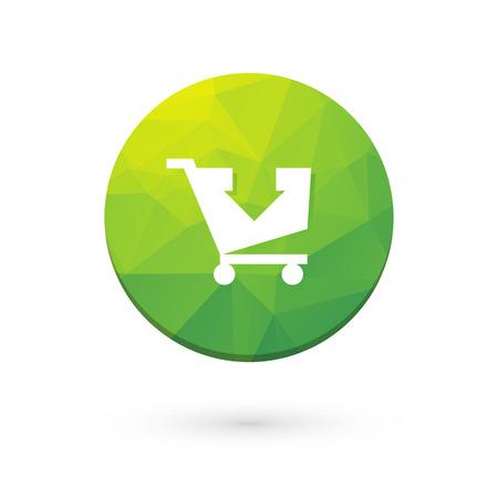 green button: Green button shopping cart