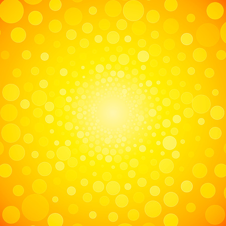 sun flare: brightly yellow background from small circles