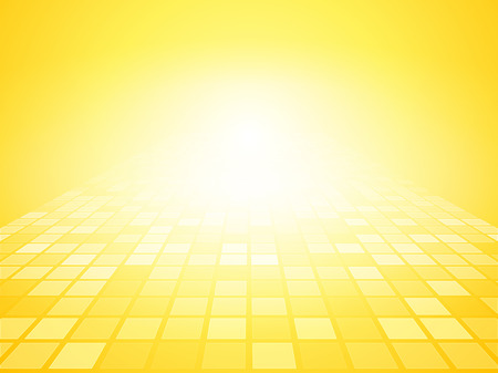 yellow brightly background with squares perspective