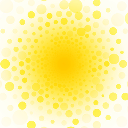 yellow background of small circles
