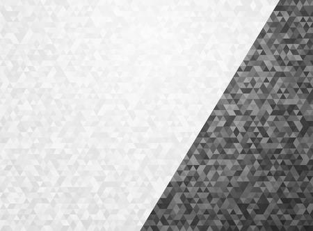 black white triangular background with overlays
