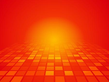 naranja color: Perspectiva fondo naranja rojo con cuadrados
