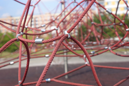 jungle gyms: rope climbing frame Stock Photo