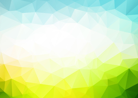 Vector abstract blue green triangles background