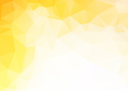 yellow art: Vector simple abstract yellow triangles background