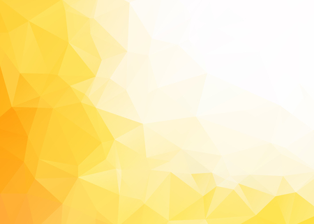 orange color: Vector abstract yellow white triangles background Illustration
