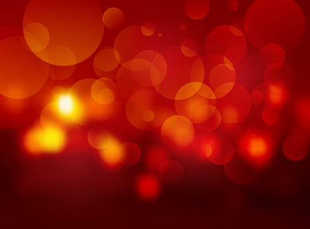 red blurred circle background
