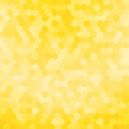 proste żółte tło sześciokątnym Ilustracje wektorowe
