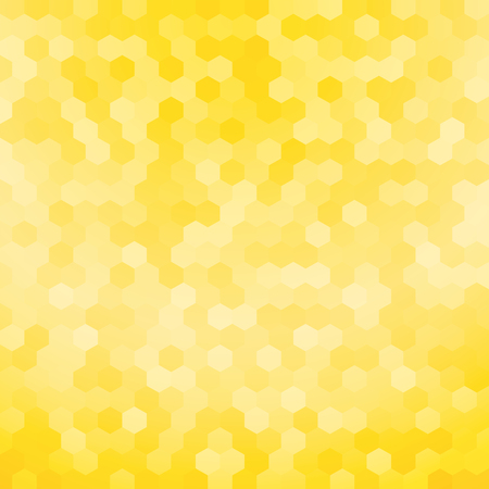 simple yellow hexagon background Illustration