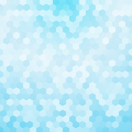 light blue hexagon background Ilustração