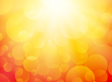 yellow orange: summer yellow background with bokeh and rays