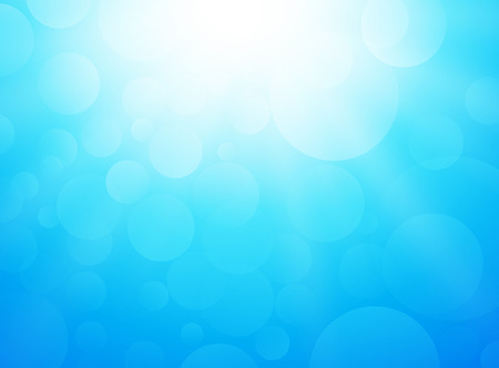 bright: ice cold blue background with bokeh and rays