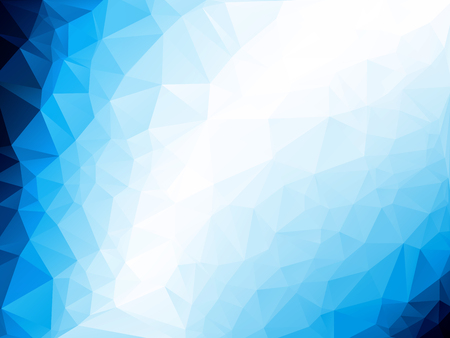 blau wei�: triangle abstract background of blue white winter