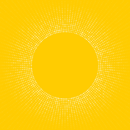 sun symbol abstract yellow background made of small circles