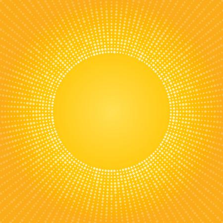 abstracte gele achtergrond gemaakt van kleine cirkels hitte zon Stock Illustratie