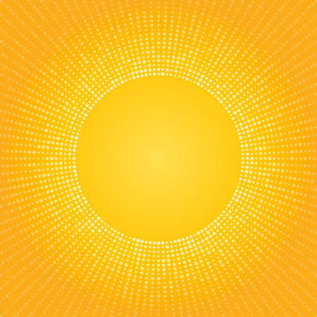 astratto sfondo giallo fatto di piccoli cerchi calore del sole