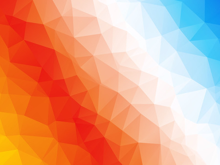 blau wei�: Abstract geometric red orange blue white triangle background
