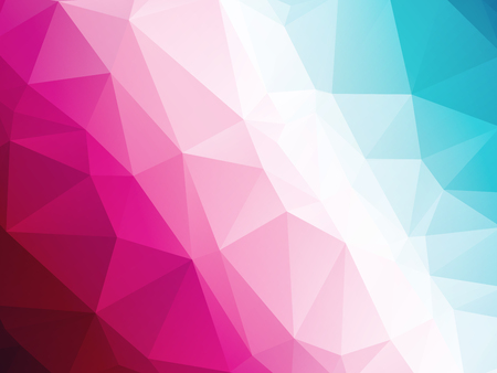 design layout: Abstract geometric blue white red triangular background