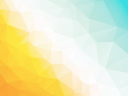 Abstract geometric triangle yellow blue hot summer background Stock Illustratie