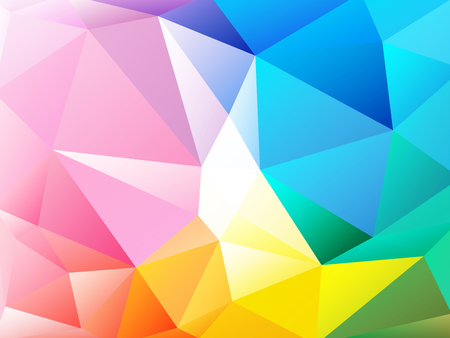 rainbow background: Colorful rainbow background low poly
