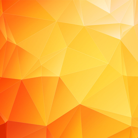 vector wallpaper: low poly orange background