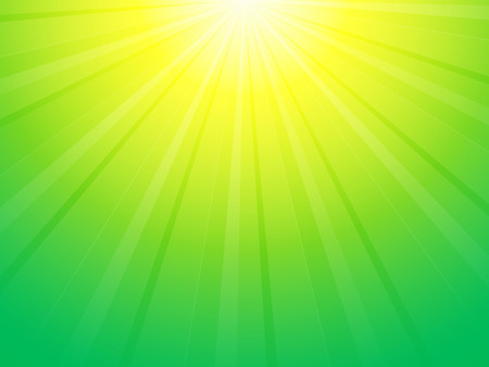 green yellow: green yellow background with sun rays Illustration