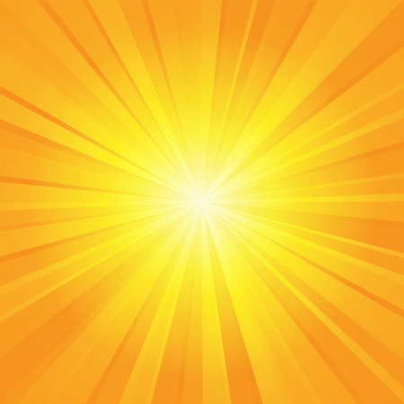 radial background: orange yellow ray background