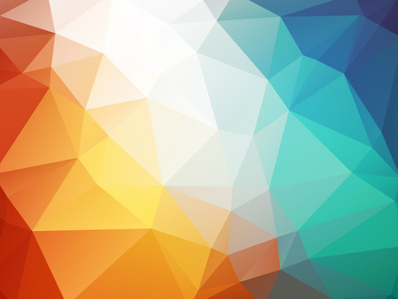 fire and ice: orange blue polygon background ice fire