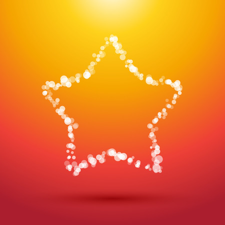 star: white star from small dots