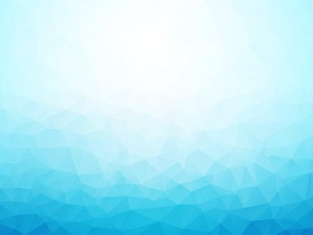 fondos azules: la luz de fondo azul de invierno baja poli