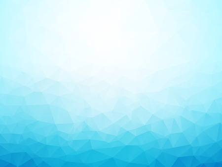 light blue winter background low poly Ilustração