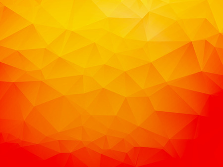 colorful: orange low poly background