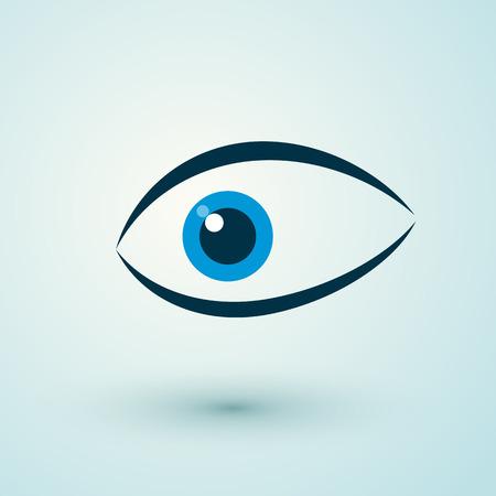 human eye: human blue eye